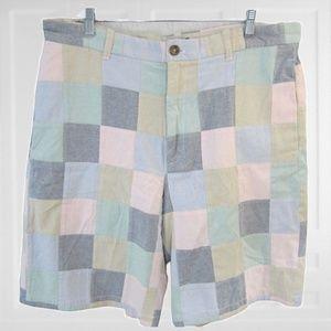 Izod vintage golf shorts sz 36 patchwork pastel